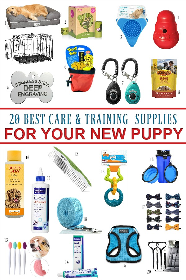 Lots of care and training is involved to keep your new puppy safe and help him learn acceptable behavior. This checklist of essential and useful products will help your pet adjust to his new family.