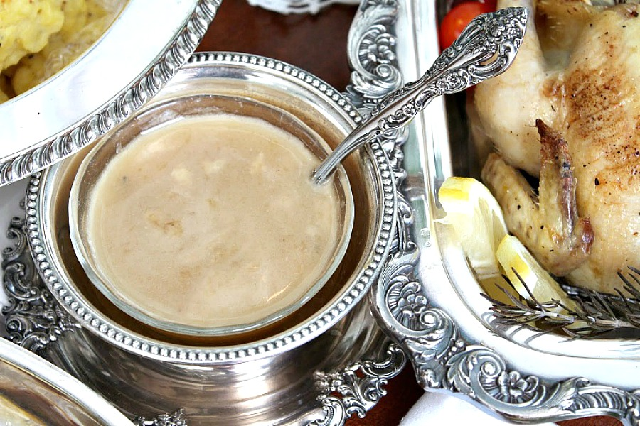 Downton Abbey dinner menu Roasted Cornish Game Hens with pan juice reduction gravy.