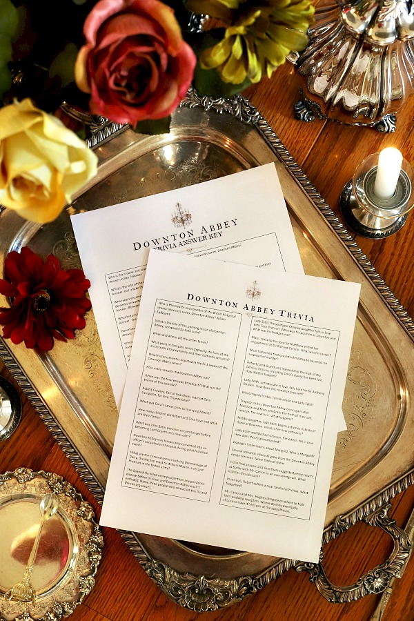 Fun and FREE printable, Downton Abbey Trivia tests your knowledge of the British historical period drama. Perfect for a proper tea party or dinner with friends.