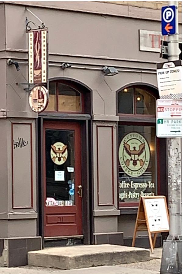 double shots coffee cafe Chestnut street Philadelphia