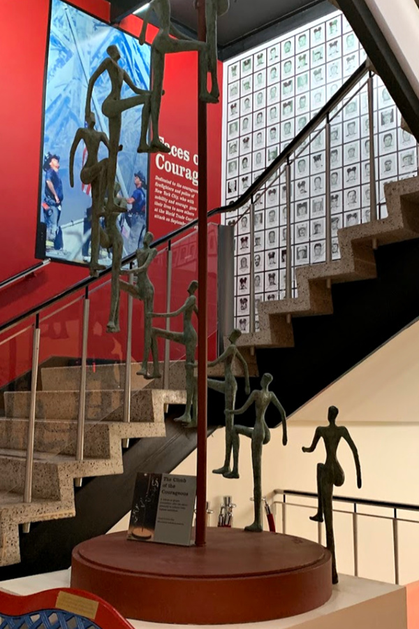 The Climb of Courage, a tribute to people who rise above adversity to achieve their highest ambitions at the National Liberty Museum, Philadelphia.