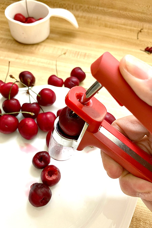 Make short work of the tedious job of removing the pits from cherries with a cherry pitter. Perfect for eating and for using in recipes.