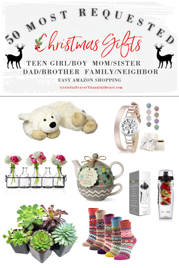 Make gift-giving easy for Mom, sisters and girlfriends on your list. The best and most requested Christmas and holiday shopping guide ideas for the ladies in your life plus additional suggestions for Dad, brother, teen girls, teen boys, him, her, neighbor and family. Best gifts from Amazon!