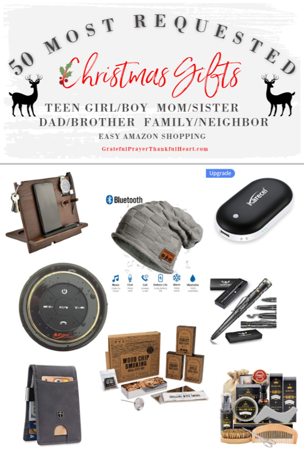 Make gift-giving easy for Dad, brothers and the guys on your list. The best and most requested Christmas and holiday shopping guide ideas for the men in your life plus additional suggestions for Mom, sister, girlfriends, teen girls, teen boys, him, her, neighbor and family. Best gifts from Amazon!