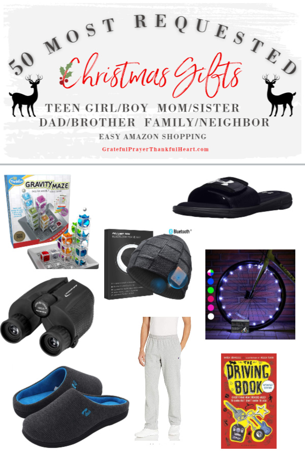 Make gift-giving easy for the teen boys on your list. The best and most requested Christmas and holiday shopping guide ideas for high-school boys plus additional suggestions for Mom, sister, Dad, brother, teen girls, him, her, neighbor and family. Best gifts from Amazon!