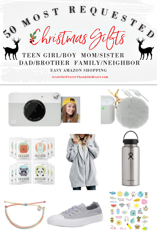 Make gift-giving easy for the teen girls on your list. The best and most requested Christmas and holiday shopping guide ideas for high-school girls plus suggestions for Mom, sister, Dad, brother, teen boys, him, her, neighbor and family. Best gifts from Amazon!