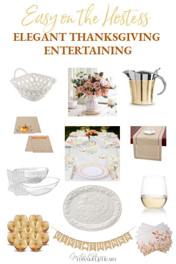 Can you create an elegant Thanksgiving tablescape using disposable items? Absolutely yes! Save time, work, and enjoy being a hostess and your guests. Include a pretty centerpiece, candles and festive items for a chic or rustic look with this helpful shopping guide.