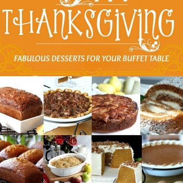 Choose one or many from this collection of classic and favorite Thanksgiving desserts as a perfect finish to your Thanksgiving dinner. A bounty of pumpkin and apple pies and cakes sure to please everyone and look so tempting on your buffet table.