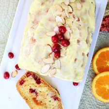 Frosted Apricot Cranberry Bread