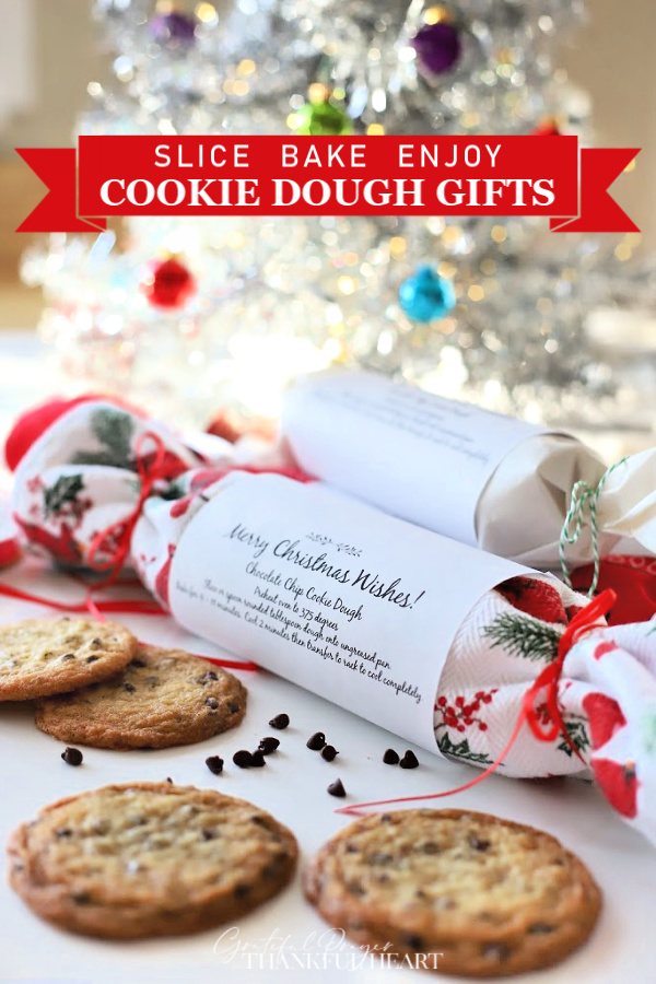Easy holiday gifts your friends will love, chocolate chip cookie dough in festive packaging is frozen and ready to bake. Fresh from the oven, homemade cookies without the work!