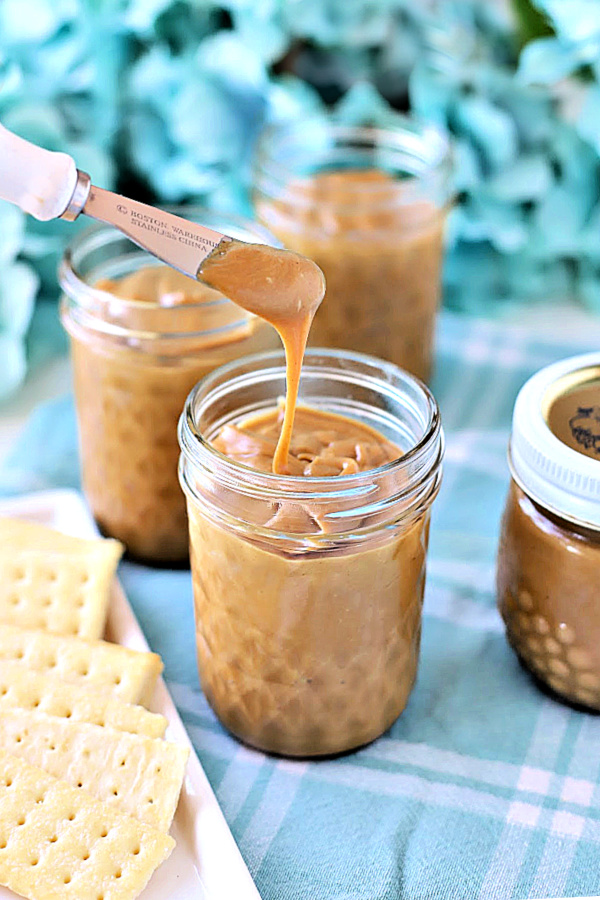Creamy, sweet and perfect on crackers, muffins or toast, Amish peanut Butter church spread is easy to make and a great food gift to share.