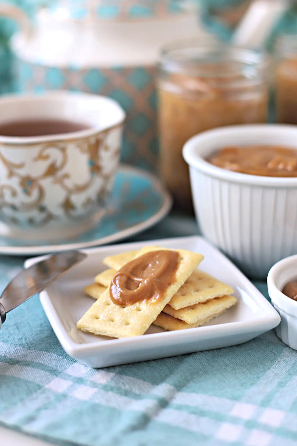 Amish peanut butter church spread is sweet, creamy and incredibly delicious on homemade bread, crackers and so much more. Easy recipe from a Lancaster mom.