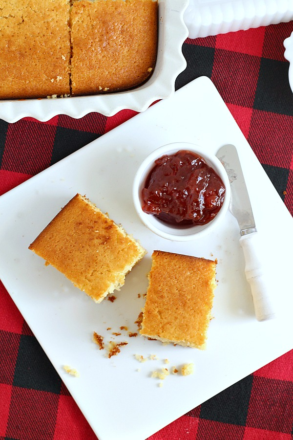 You'll love this very easy sweet honey cornbread simply mixed in a bowl and baked to a golden brown. Perfect with chili, soup or meat entree.