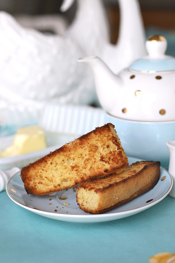 You'll love this very easy sweet honey cornbread simply mixed in a bowl and baked to a golden brown. Perfect toasted for morning or afternoon snack with a cup of tea!