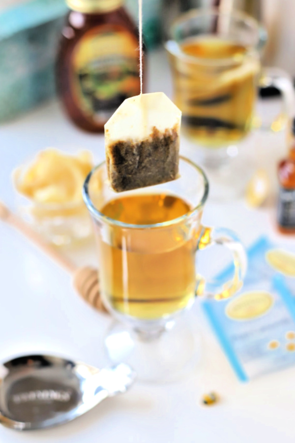 Make a very easy recipe for Hot Toddy when a cold or the flu has you down. It is warm and tasty with whiskey, tea, honey and lemon to help relieve symptoms so you can rest and feel better.