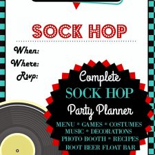 Sock Hop Birthday Party