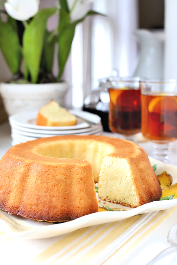 Similar to pound cake, coconut lemon cake is a perfect dessert or treat with tea or coffee. Made with coconut milk and a little rum if desired, it is baked in a Bundt pan and is also lovely toasted for breakfast.