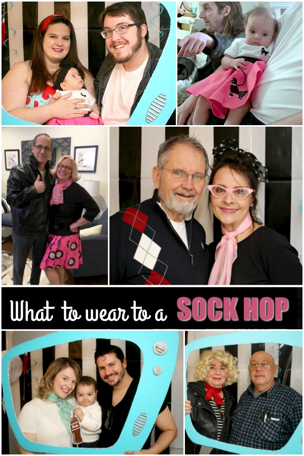 Tons of ideas for a fun Sock Hop Birthday Party for adults. Food menu, recipes, decorations, games, playlist, photo props, root beer float bar and planner.