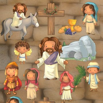 Christian Easter Story character printables are cute, colorful and perfect for kids playtime, teaching, homeschooling and Sunday School use. Beyond adorable bunnies and chicks, Easter is a day to celebrate the immeasurable love of God toward all people. A victory over the grave giving great hope for our future.