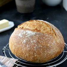 Homemade Rustic Almost No-Knead Bread