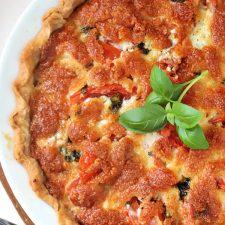 Basil Tomato Pie