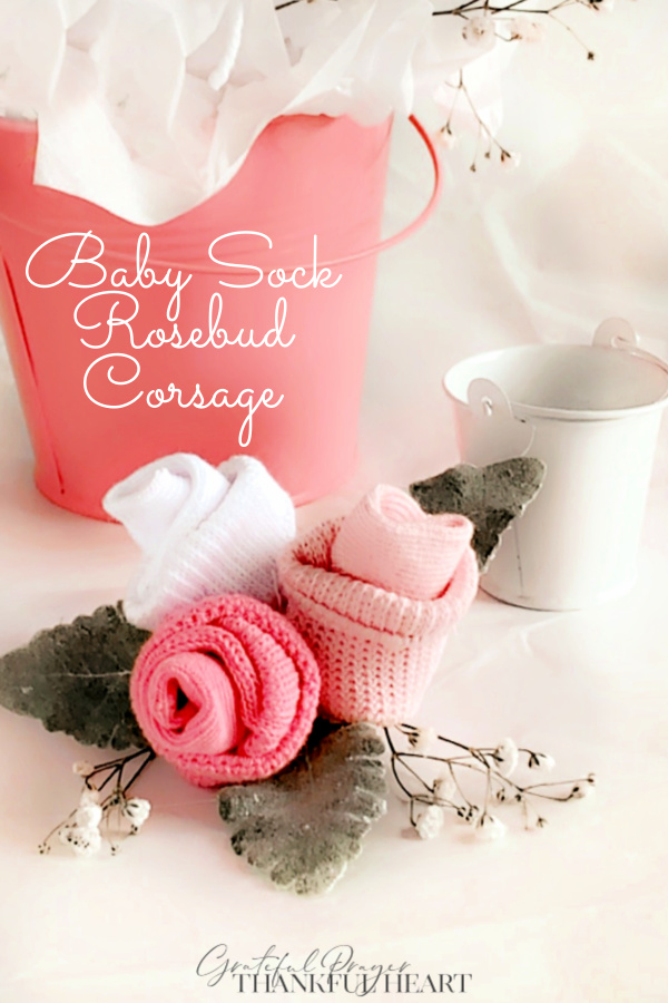 Make Mommy-to-Be feel extra special at her baby shower with a sweet rose baby sock corsage. Little rosebuds are easy with these step-by-step instructions.