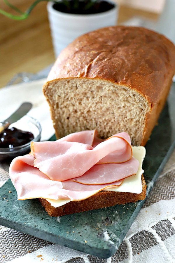 Try this easy recipe for healthy whole wheat bread with banana and honey. Use your bread machine for dough then shape and bake for a delicious, lightly sweet yeast bread. Slices well for sandwiches and makes a tasty ham and cheese deli lunch!
