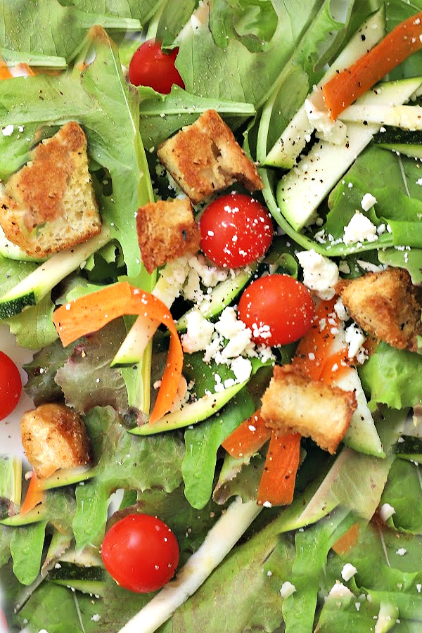 Easy recipe and how-to make homemade Parmesan croutons.