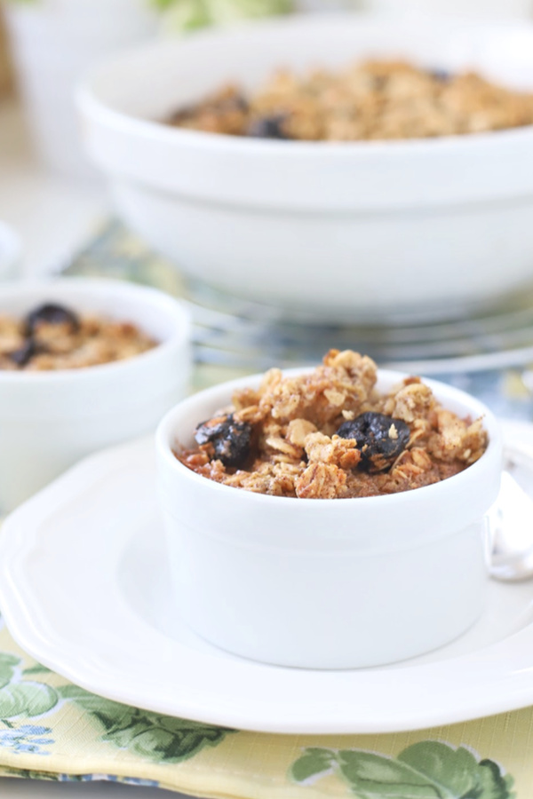 individual servings of homemade baked oatmeal for breakfast