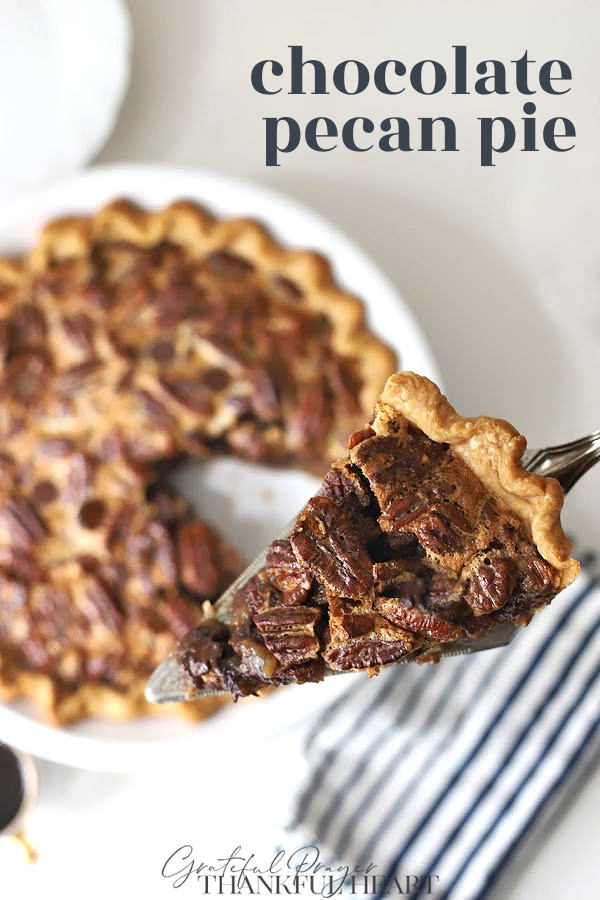 A decadent dessert, chocolate pecan pie is a classic old-fashioned favorite. Easy recipe using dark chocolate, espresso powder & corn syrup.