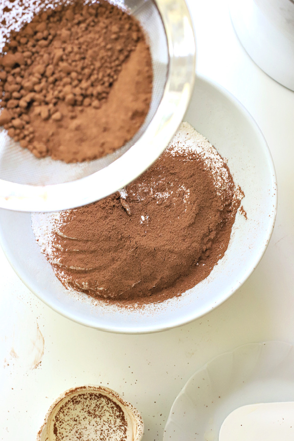 sifted cocoa powder for chocolate peanut butter cookies