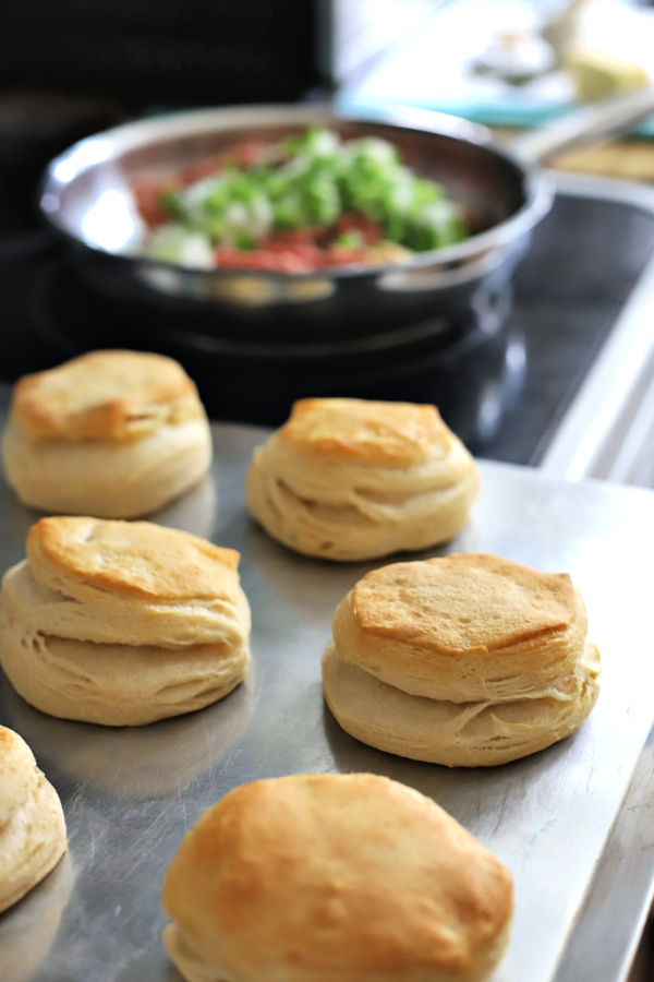 baked biscuits for country sausage gravy