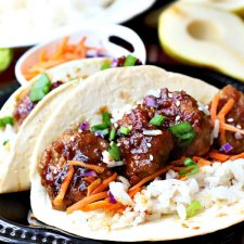 Bulgogi  Meatball Tacos