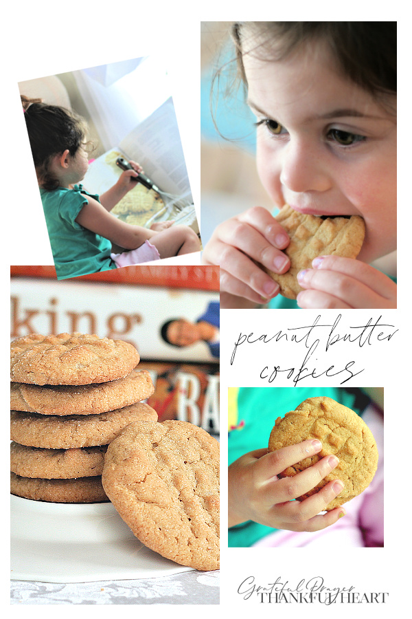 Traditional peanut butter cookies for kids