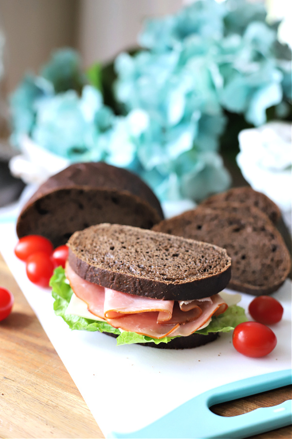 Dark steakhouse brown bread recipe is a great sandwich bread
