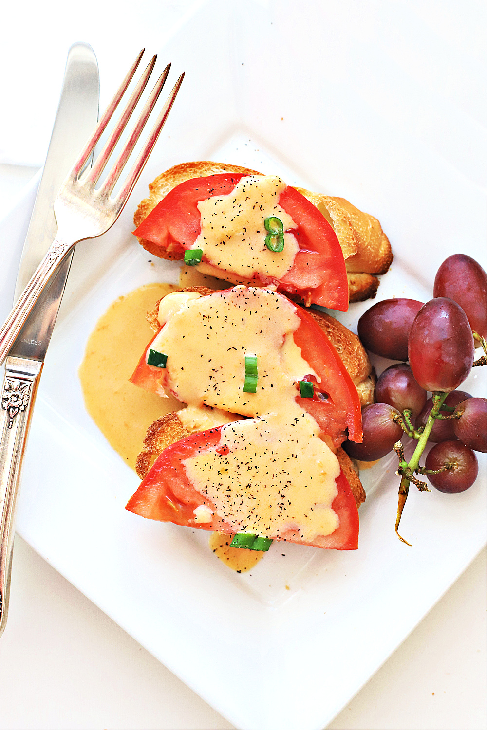 A quick & easy recipe for Welsh rarebit (or rabbit) is a British dish of a cheddar cheese and beer sauce spooned over toast for an elegant brunch, breakfast or lite dinner.