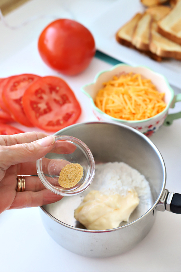 Adding dry mustard for Welsh rarebit sauce