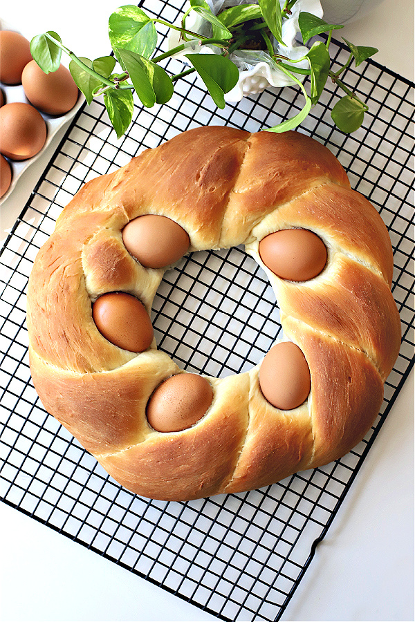 ready to frost a beautiful Easter Bread