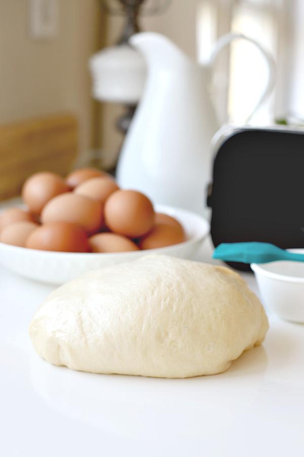 dough from a bread machine