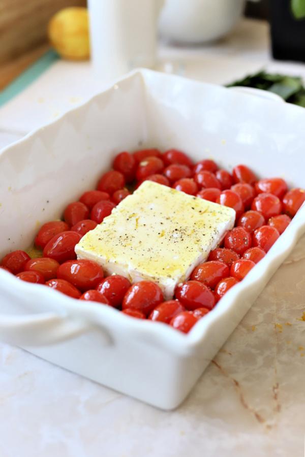 baked tomato & feta pasta