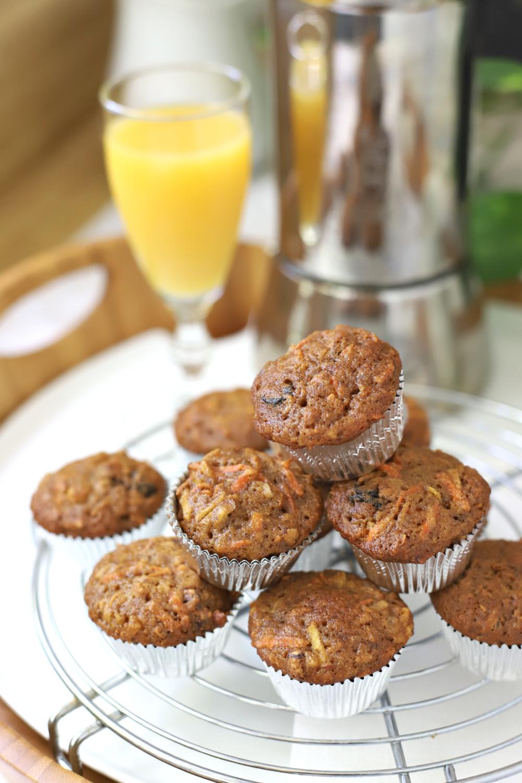 Mini morning glory muffins recipe