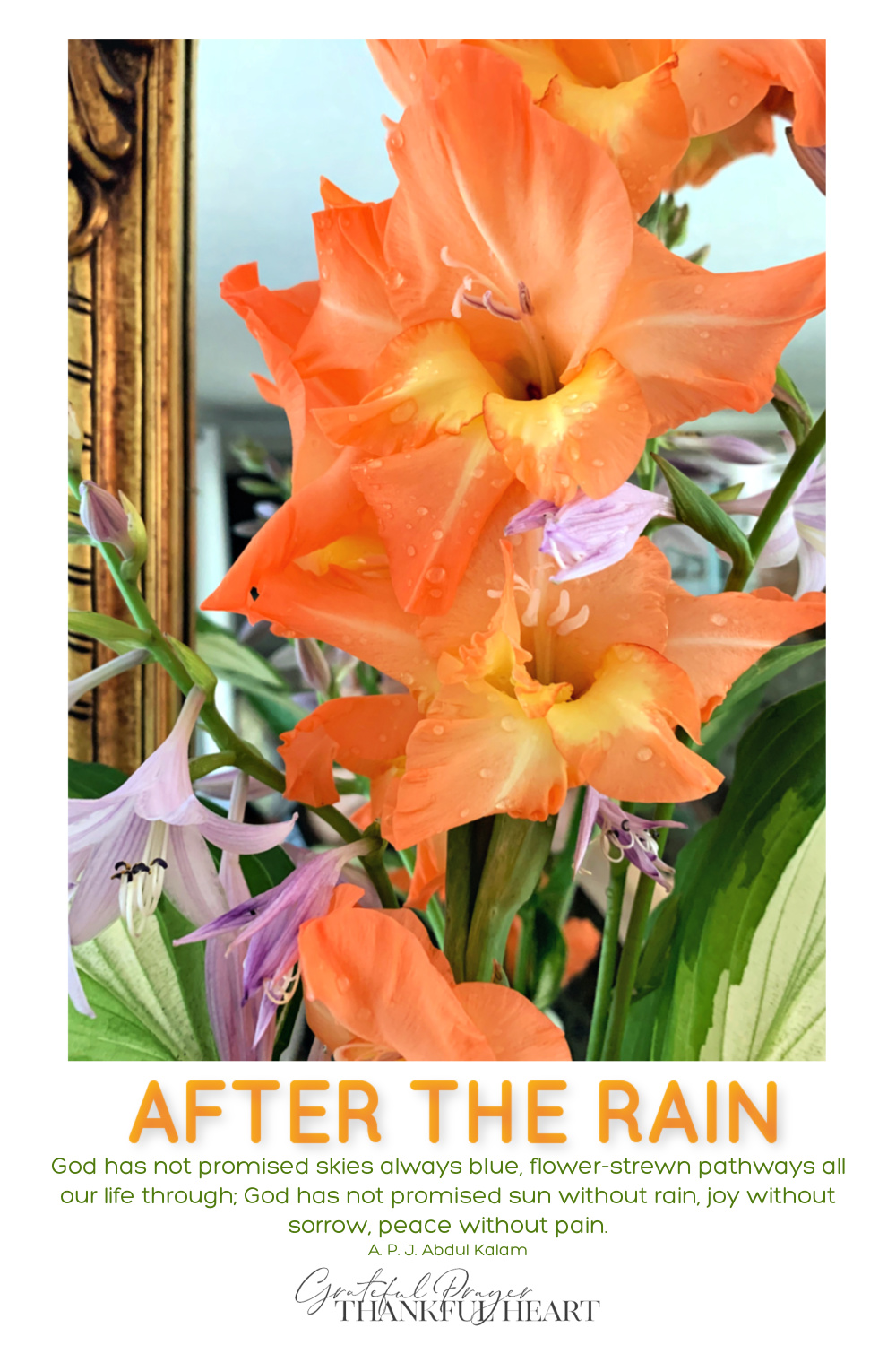 Summertime thunderstorms come with heavy rain and harsh wind, breaking the stems of flowers in the garden. Use them to create simple arrangements to brighten your home and attitude.