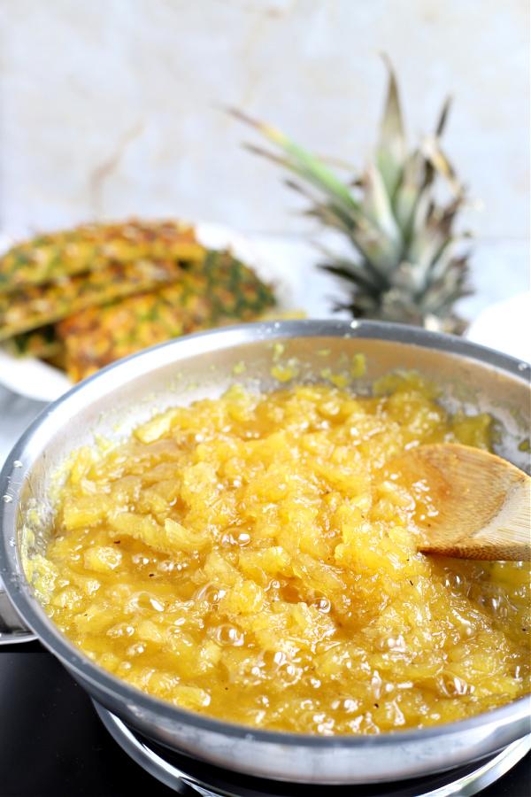 easy recipe for fresh pineapple jam