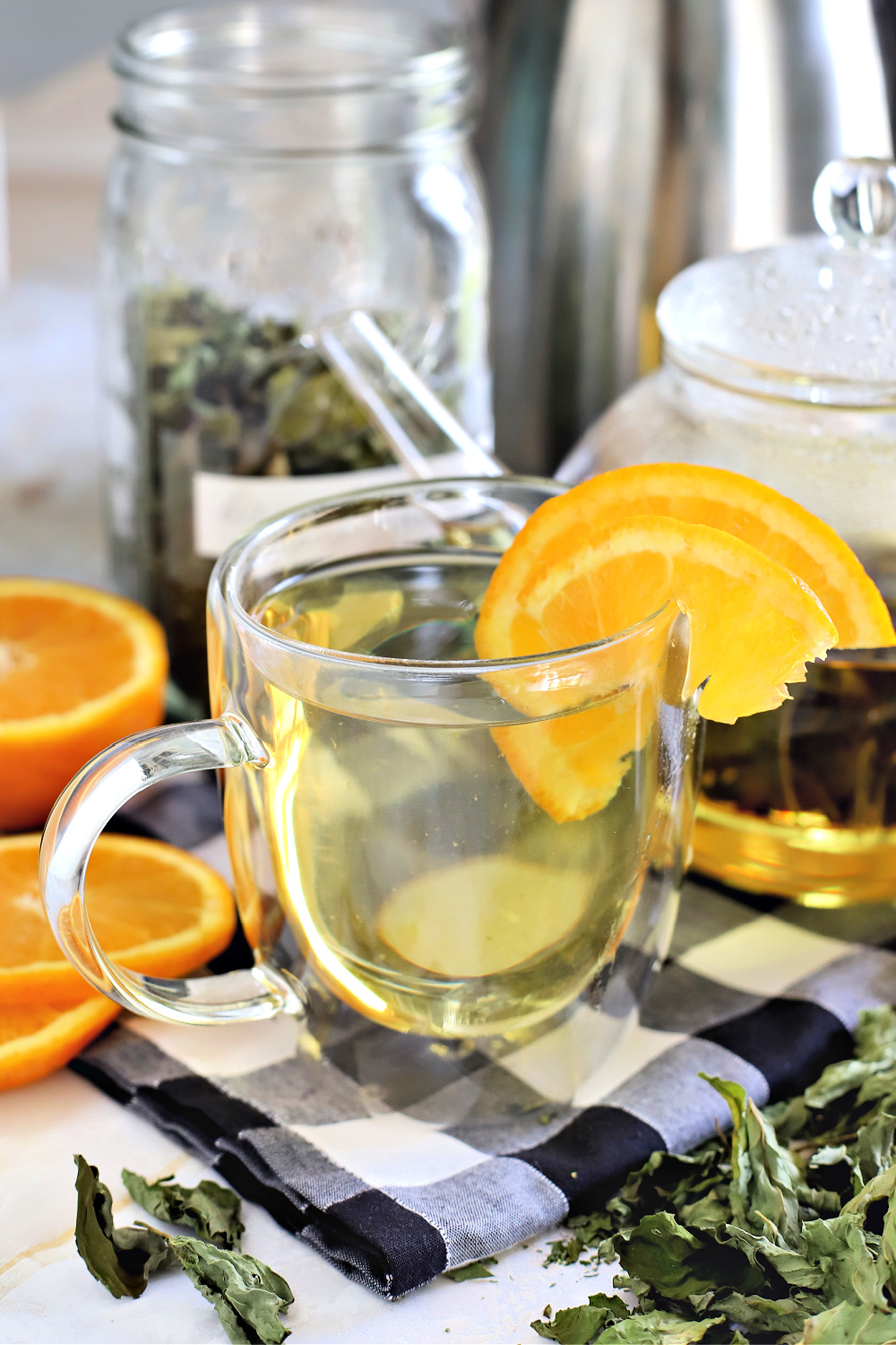 Make a lovely cup of hot or iced orange mint tea using this easy-to-grow plant from your herb garden. Care, harvesting and drying how-to for use in beverages, salads and desserts.