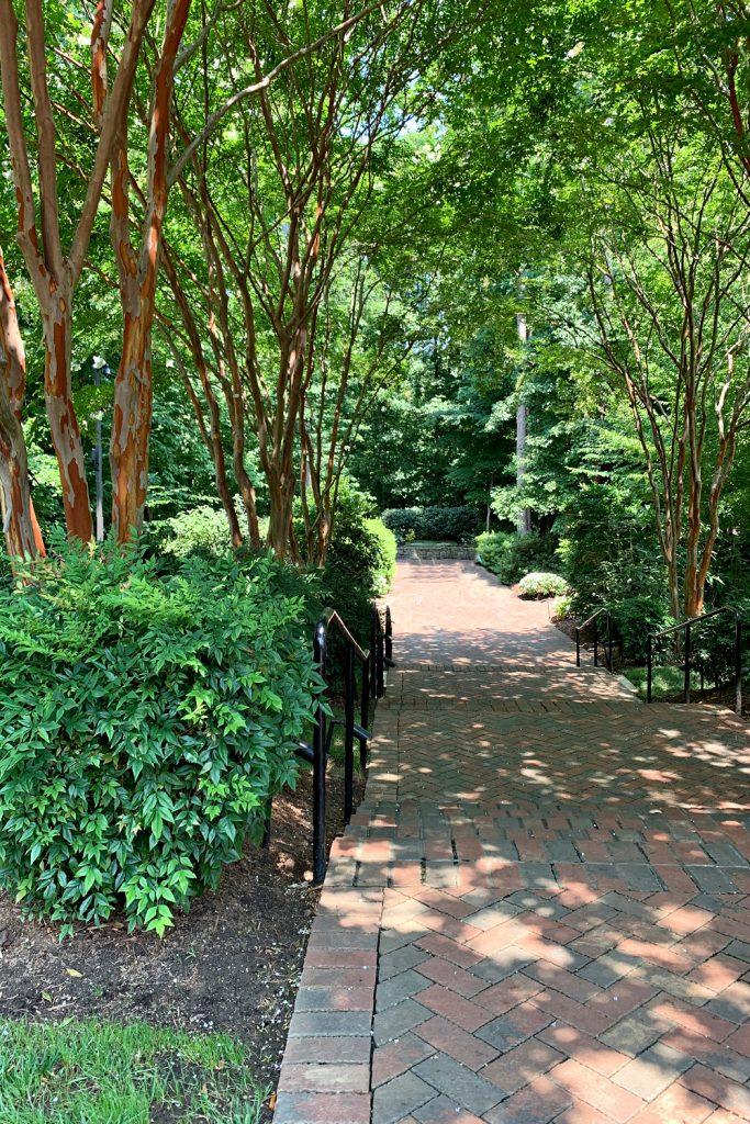 Memorial Prayer Garden where Billy is buried next to his wife, Ruth near The Billy Graham Library in Charlotte, NC.