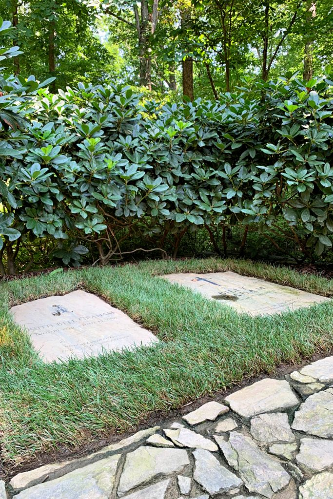 Both Billy and his wife, Ruth are buried at the foot of a cross-shaped brick walkway at the Billy Graham Library grounds.