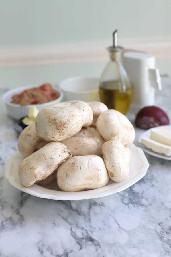 large white mushroom for stuffing