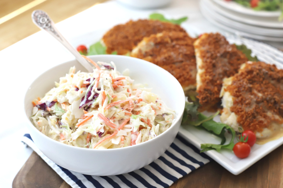 A super easy recipe for pineapple coleslaw with a Hawaiian flair. Great side dish with grilled chicken, pulled pork, burgers and hotdogs.
